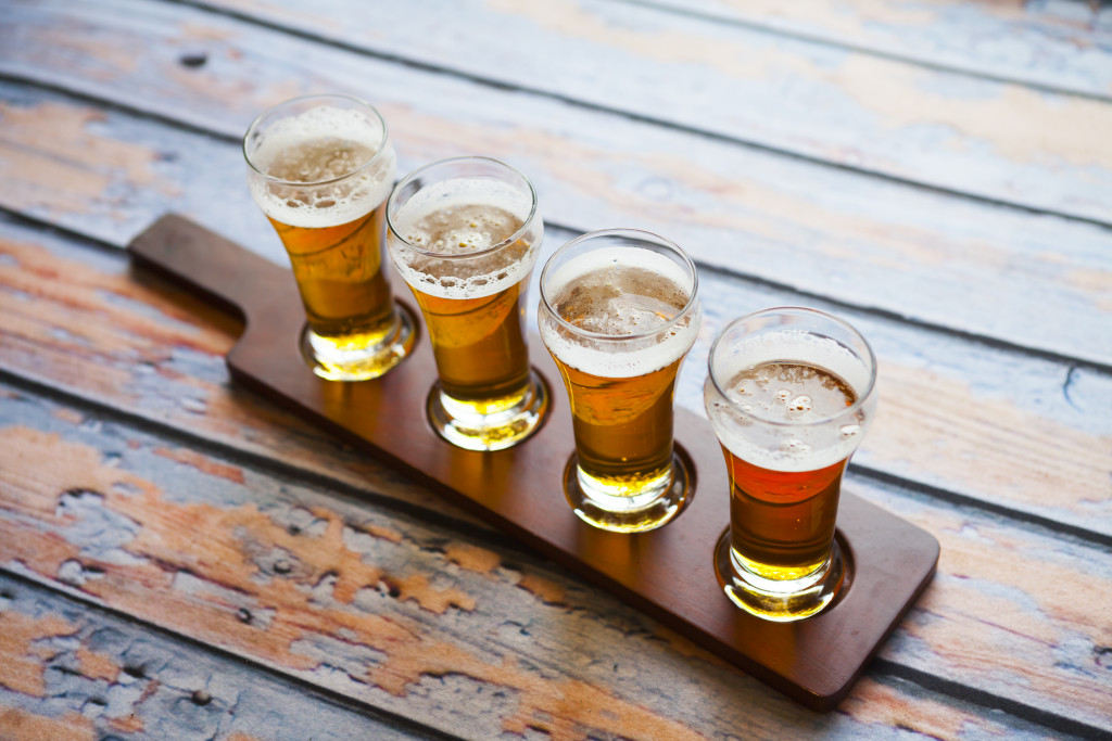 4 glass of beer